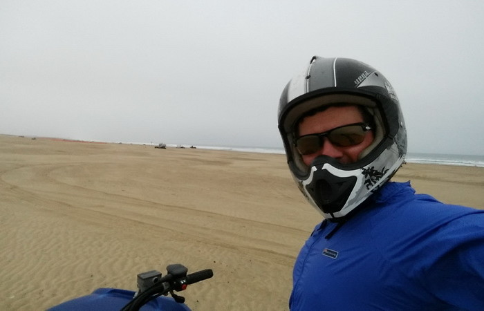 SF to LA  - David riding the dunes in Oceano Dunes State Recreation Area