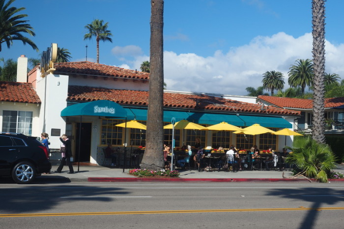 SF to LA - Our brekkie spot in Santa Barbara!