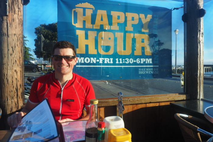 SF to LA - We made it for happy hour at the Half Moon Bay Brewery