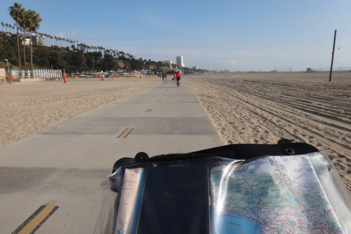SF to LA - The fabulous bike path through the beach in LA