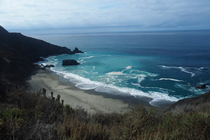SF to LA - One of my favourite beaches along Big Sur - it even had palm trees!