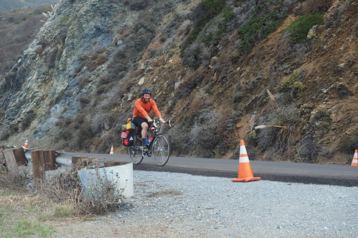 "SF to LA - The ""trail builder"", another of our cycling buddies around Big Sur"