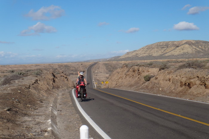 Baja California - Jo on the road to El Rosario