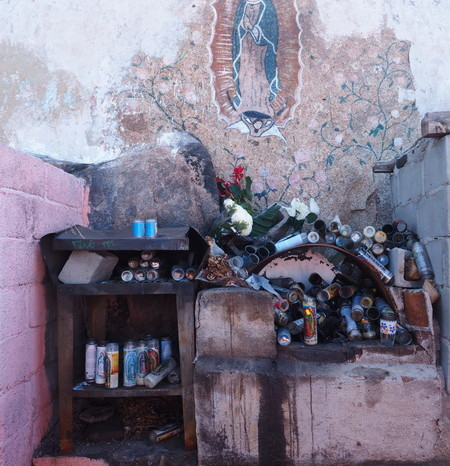 Baja California - Popular roadside shrine to the Lady of Guadalupe (Senora de Guadalupe)