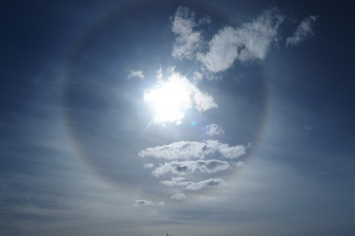 Baja California - On the afternoon of Day 2, the sun was surrounded by a circle ... strange, but beautiful
