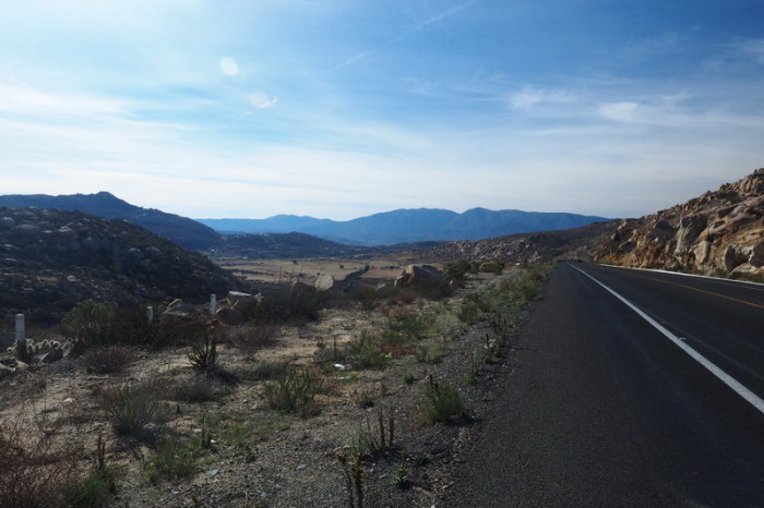Baja California - Cycling on Highway 3 to the Guadalupe Valley