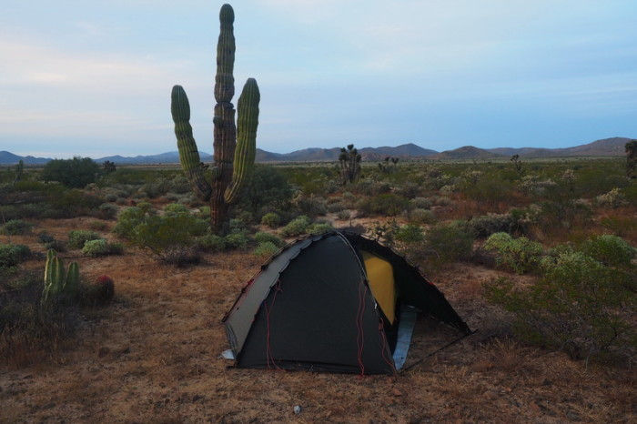 Baja California - Our campsite near Láguná Chapá on Day 2 of our Central Desert crossing