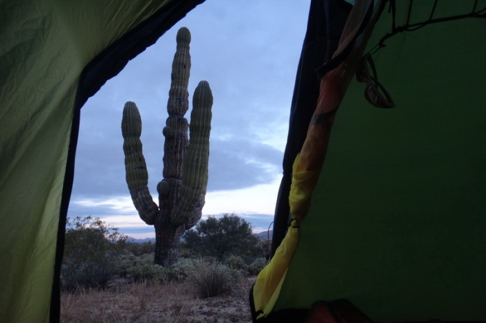 Baja California - We woke up to this view from our tent!