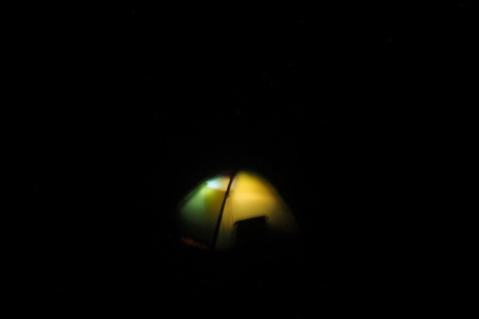 Baja California - Our tent by night!