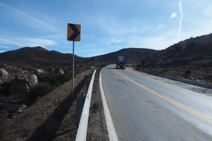 Baja California - There were lots of big trucks on the road to the Guadalupe Valley