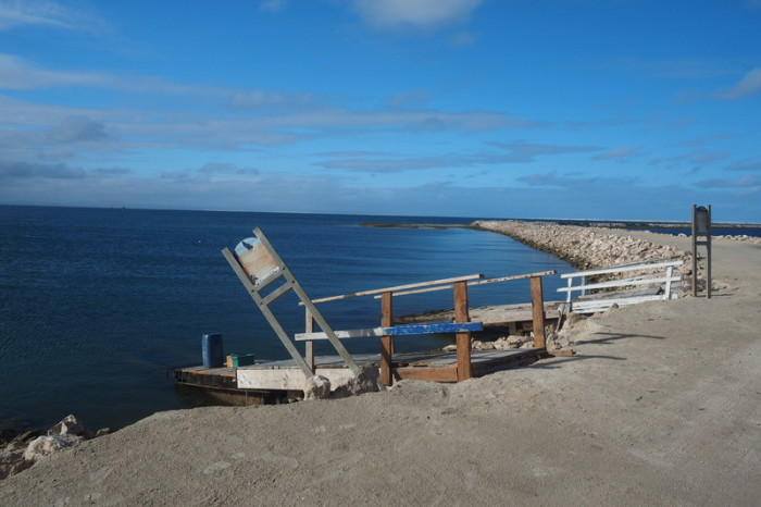 Baja California - The jetty at the Laguna Ojo  de Liebre, where we boarded the boat for our whale watching tour