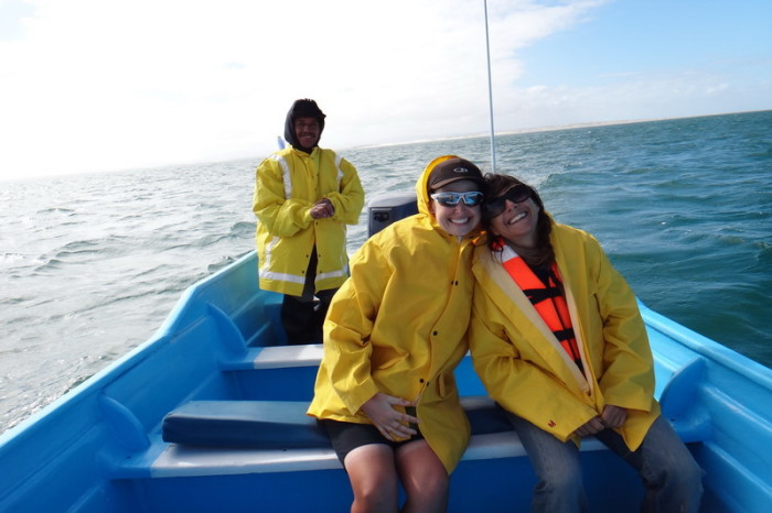 Baja California - Jo, Katarina (from Italy) and our boat captain!