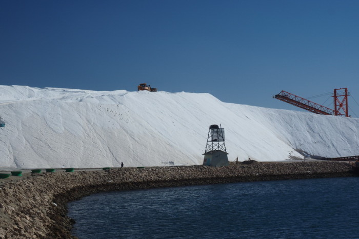 Baja California - Huge salt factory near Guerrero Negro