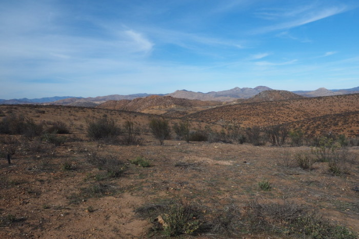 Baja California - Views on the road to the Guadalupe Valley