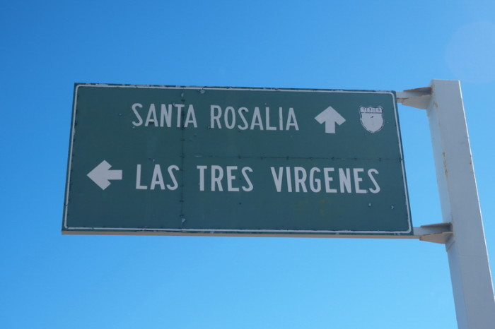Baja California - We passed the Volcano of the Three Virgins
