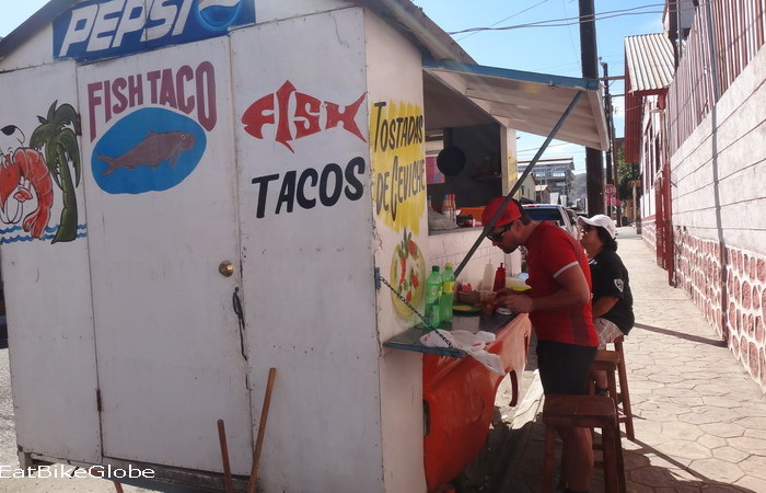 Baja California - Enjoying some fish tacos for lunch in Santa Rosalia