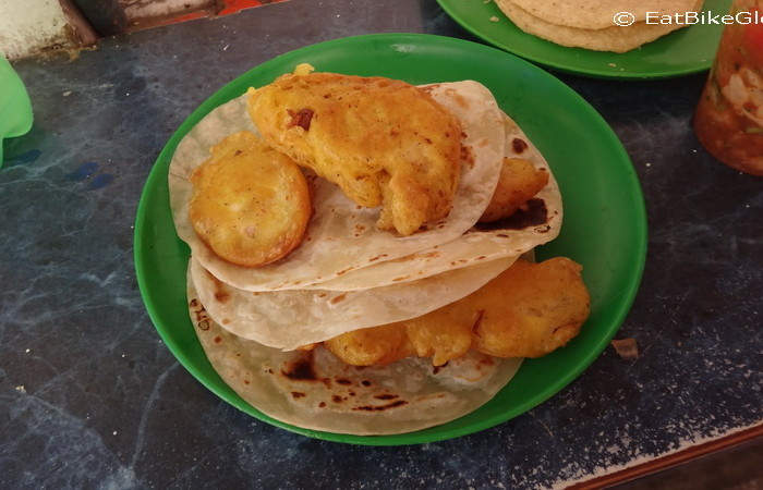 Baja California - Fish tacos in Santa Rosalia