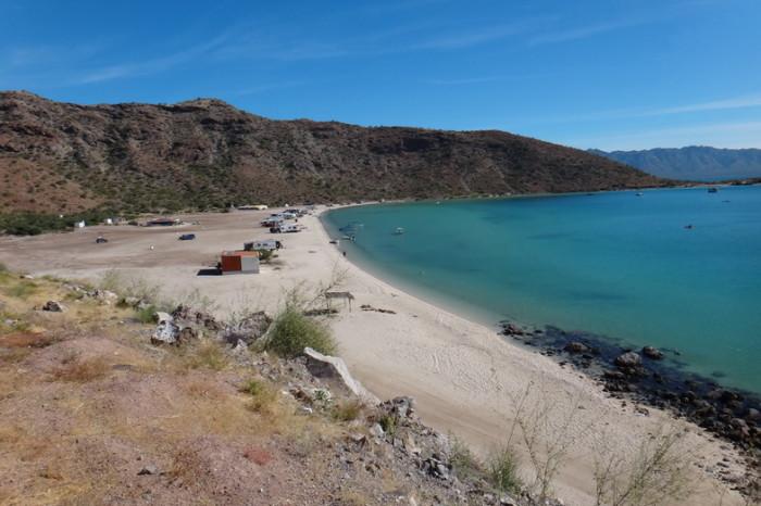 Baja California - Spectacular beaches on the way to Loreto