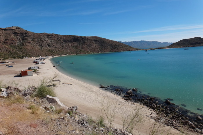 Baja California - Spectacular beaches on the way to Loreto