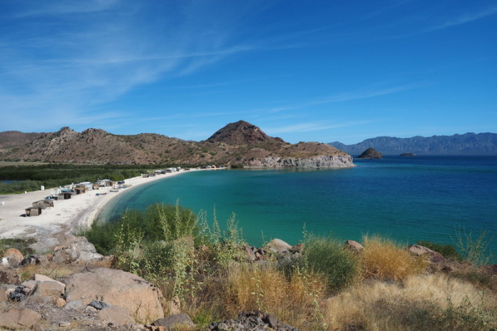 Baja California - Beautiful beaches on the way to Loreto