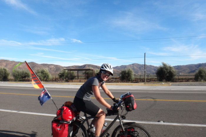 Baja California - Jo cycling through the Guadalupe Valley
