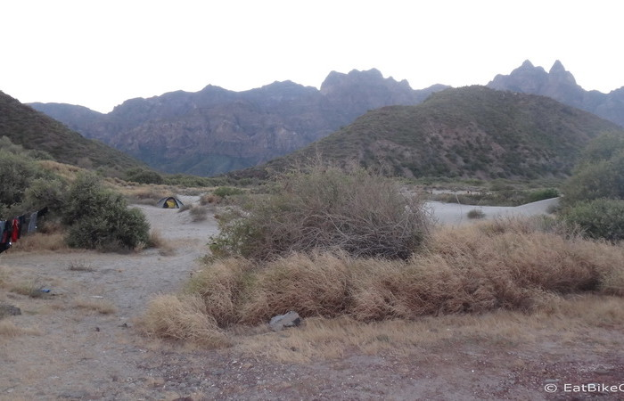 Baja California - Our campsite at Juncalito beach, near Loreto