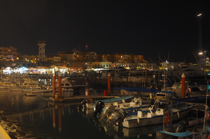 Baja California - The harbour by night, Cabo San Lucas
