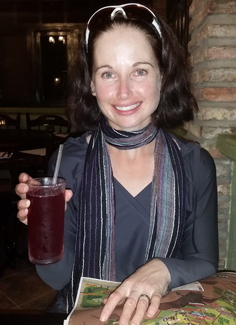 Baja California - Enjoying some sangria at Restaurant Los Naranjos, Guadalupe Valley