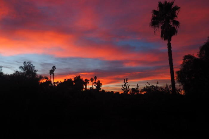 Baja California - Sunset at the Posada Inn, Guadalupe Valley