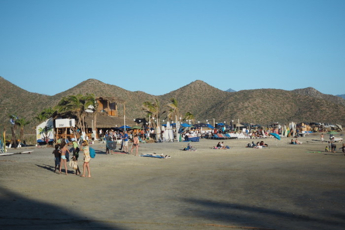 Baja California - The beach at El Pescadero, near Todos Santos