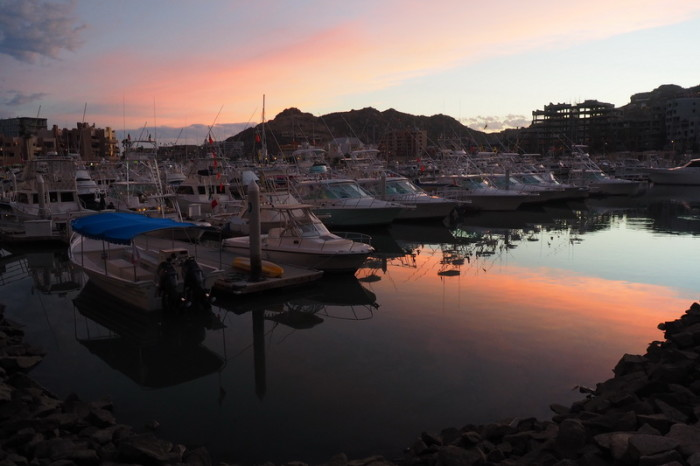 Baja California - Sunset at the harbour, Cabo San Lucas
