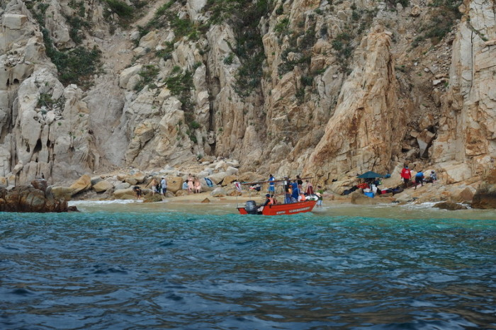 Baja California - One of the beaches off Cabo San Lucas, only accessible by boat
