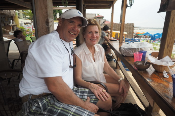 Baja California - Lovely Gus and Christine Prete from USA