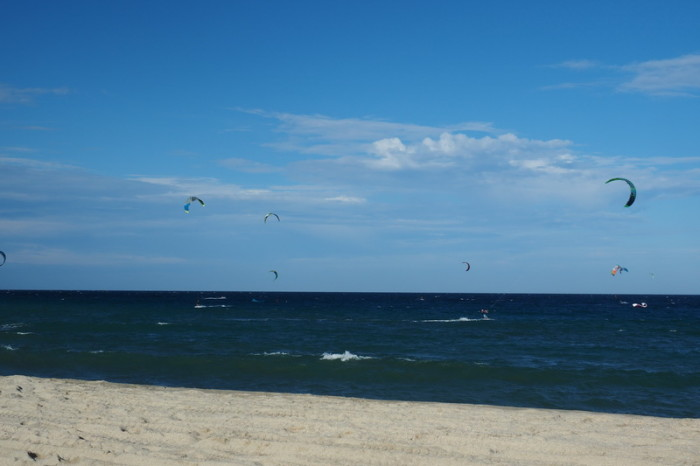 Baja California - Kite surfers, Los Barriles