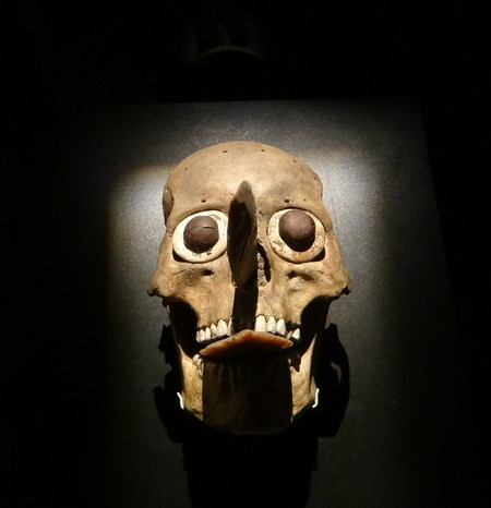 Mexico City 13 - Creepy skull masks found in Templo Major at Museo del Templo Mayor.