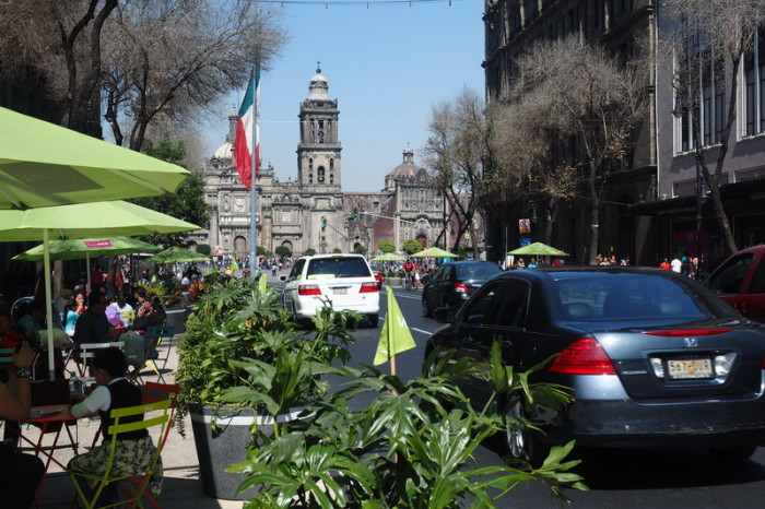 Mexico City - Beautiful Mexico City, with views of the Catedral Metropolitana in the background