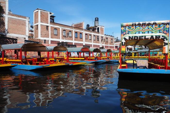 Mexico City - Trajineras (Gondolas) at Xochimilco