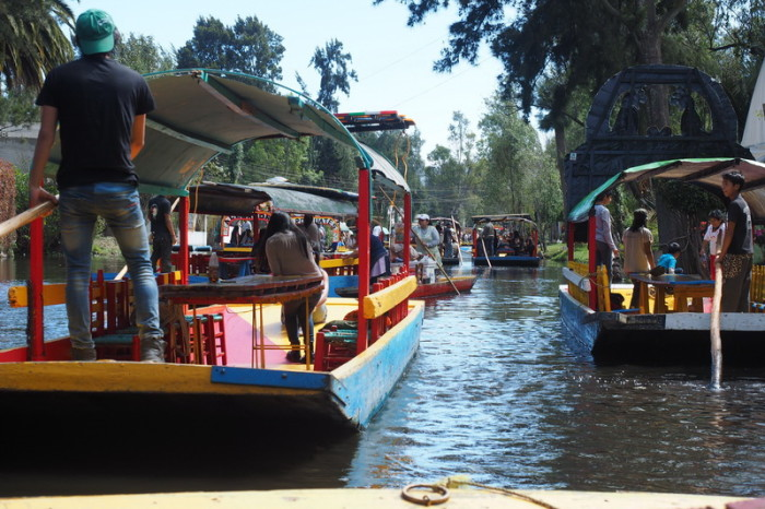 Mexico City - Cruising along the canal with the locals at Xochimilco
