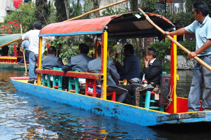 Mexico City - Floating Mariachi bands! — in Xochimilco