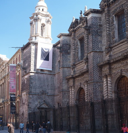 Mexico City - Mexico's equivalent of the leaning Tower of Pisa: The 17th Century Ex Teresa Arte Actual which, like the rest of Mexico City, is ... sinking!