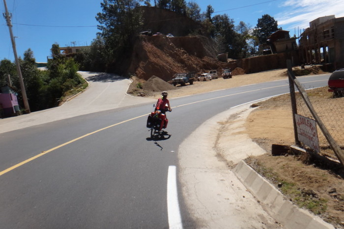Oaxaca to PA 39 - Jo enjoying the downhill on the way to Puerto Angel