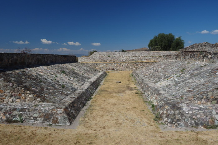 Day trip to the Valle de Tlacolula  - The ancient ball court at the Yagul Ruins