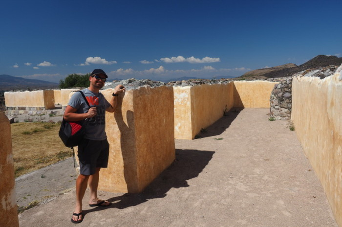 Day trip to the Valle de Tlacolula  - David and the Palace at Yagul