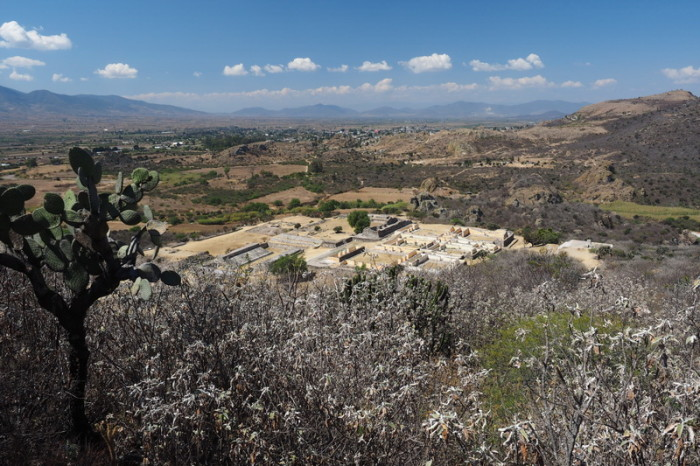 Day trip to the Valle de Tlacolula  - View of the Yagul Ruins from the Fortress