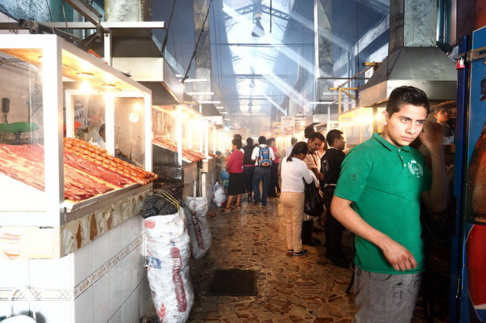 "Oaxaca - The fun ""Grilled Meat Hall"" at the Mercado 20 de Noviembre!"