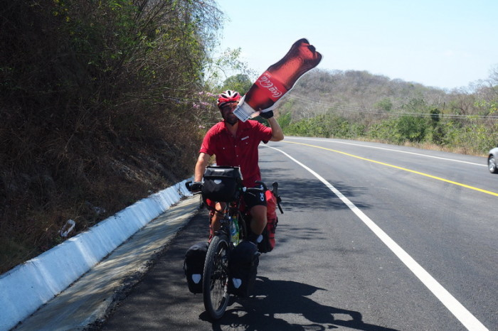 Oaxaca Coast - David was pretty thirsty on the way to Barra de la Cruz