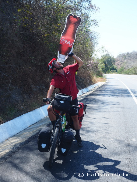 David was pretty thirsty on the way to Barra de la Cruz