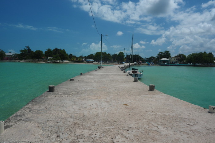 Belize - The main jetty, Sarteneja, Belize