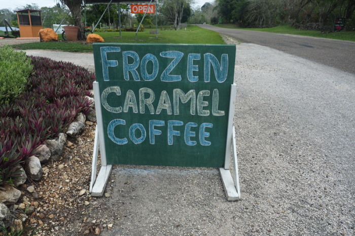 Belize - Frozen caramel coffee ... yes please!