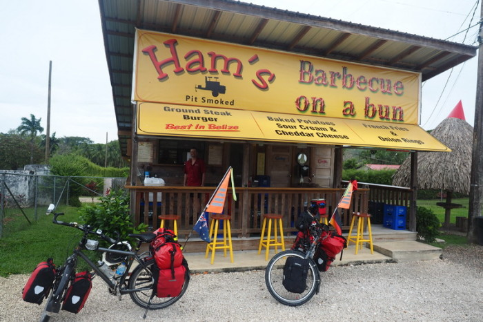 Belize - Our lunch stop ... Ham's BBQ on a Bun, Belize